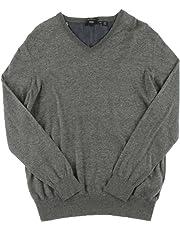 Hugo Boss Boss Men's V-Neck Slim Fit XSweater XXL Gray
