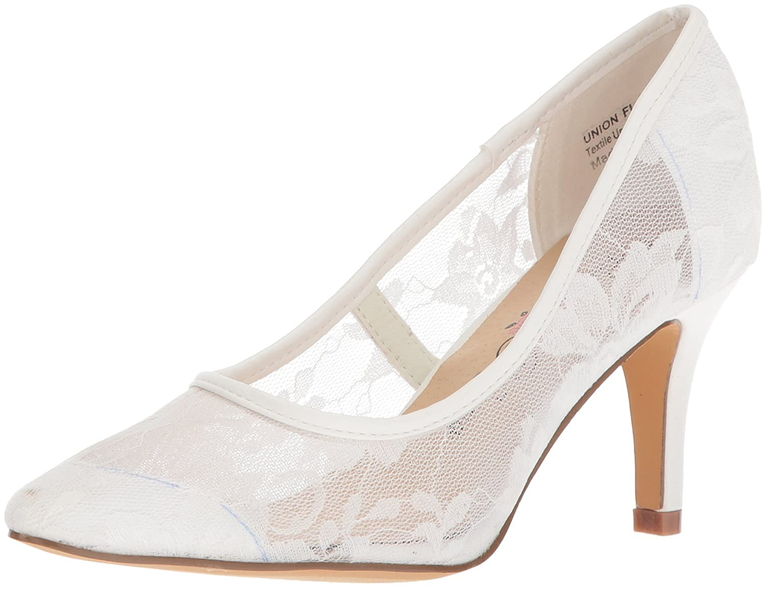 Penny Loves Kenny Women's Union Fl Pump B076FDWCH1 12 W US|White Lace