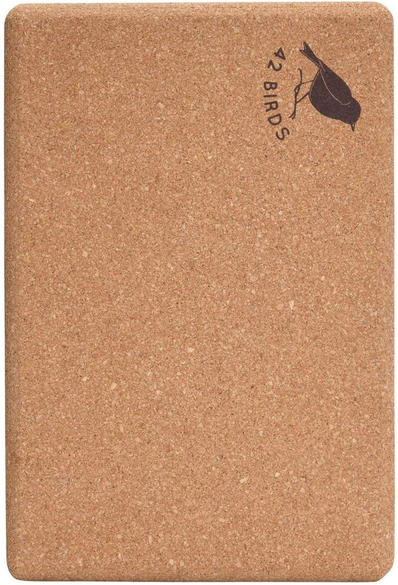 Amazon.com: 42 Birds 100% Recycled Cork Yoga Block ...