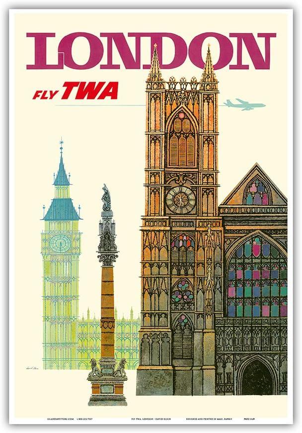 "24/""x36/""  Print on Canvas Vintage Travel Art New York Fly TWA"