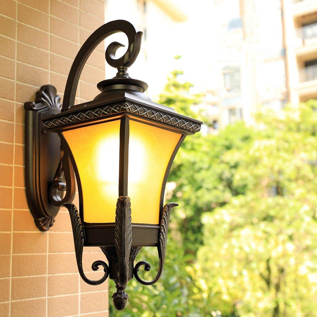 AMOS Lampade da parete lampada da parete per camera da letto - Retro esterno americano impermeabile LED balcone lampada scala corridoio corridoio cortile esterno (dimensioni   S 24  42 cm)