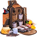 APOLLO WALKER Picnic Backpack for 4 with Cutlery Set and Blanket for Picnic, Outdoor, Sports, Hiking, Camping, BBQs, Cooler