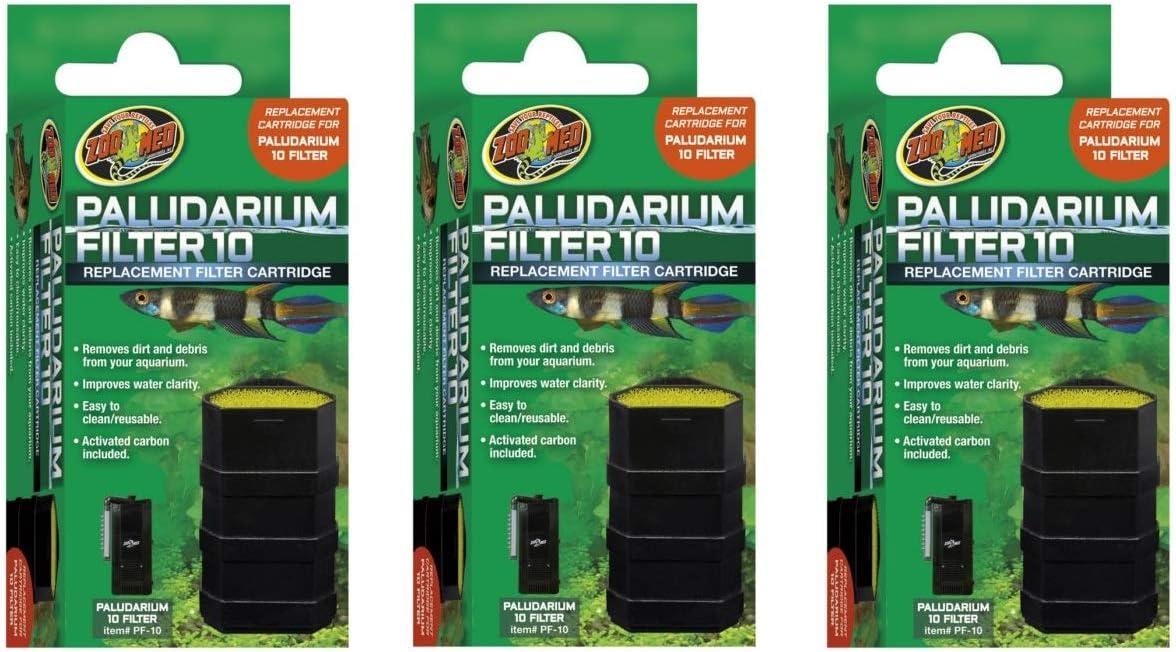 Zoo Med - Pack de 3 Cartuchos de Recambio para paludario (10 Unidades): Amazon.es: Productos para mascotas