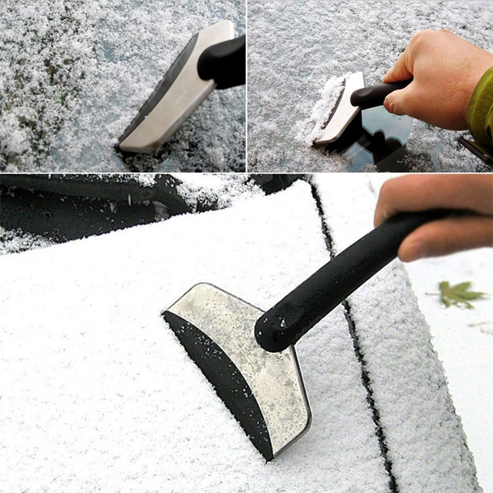 Cleaning Tool Car Accessories Car Snow Shovel Snow Ice Removal Black Plastic + Stainless Steel Handle Snow Scraper Car Care Tool