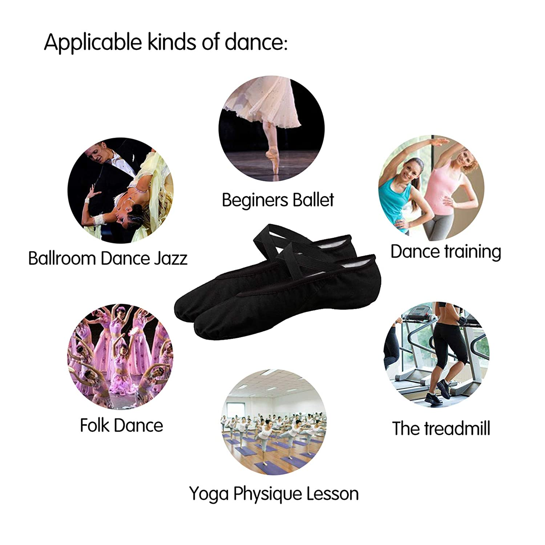 Ballet Shoes for Women Girls Womens Ballet Slipper Dance Shoes Canvas Ballet Shoes Yoga Shoes