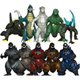 Oliasports 10Pcs Mini Godzilla Dinosaur Toys Action Figure