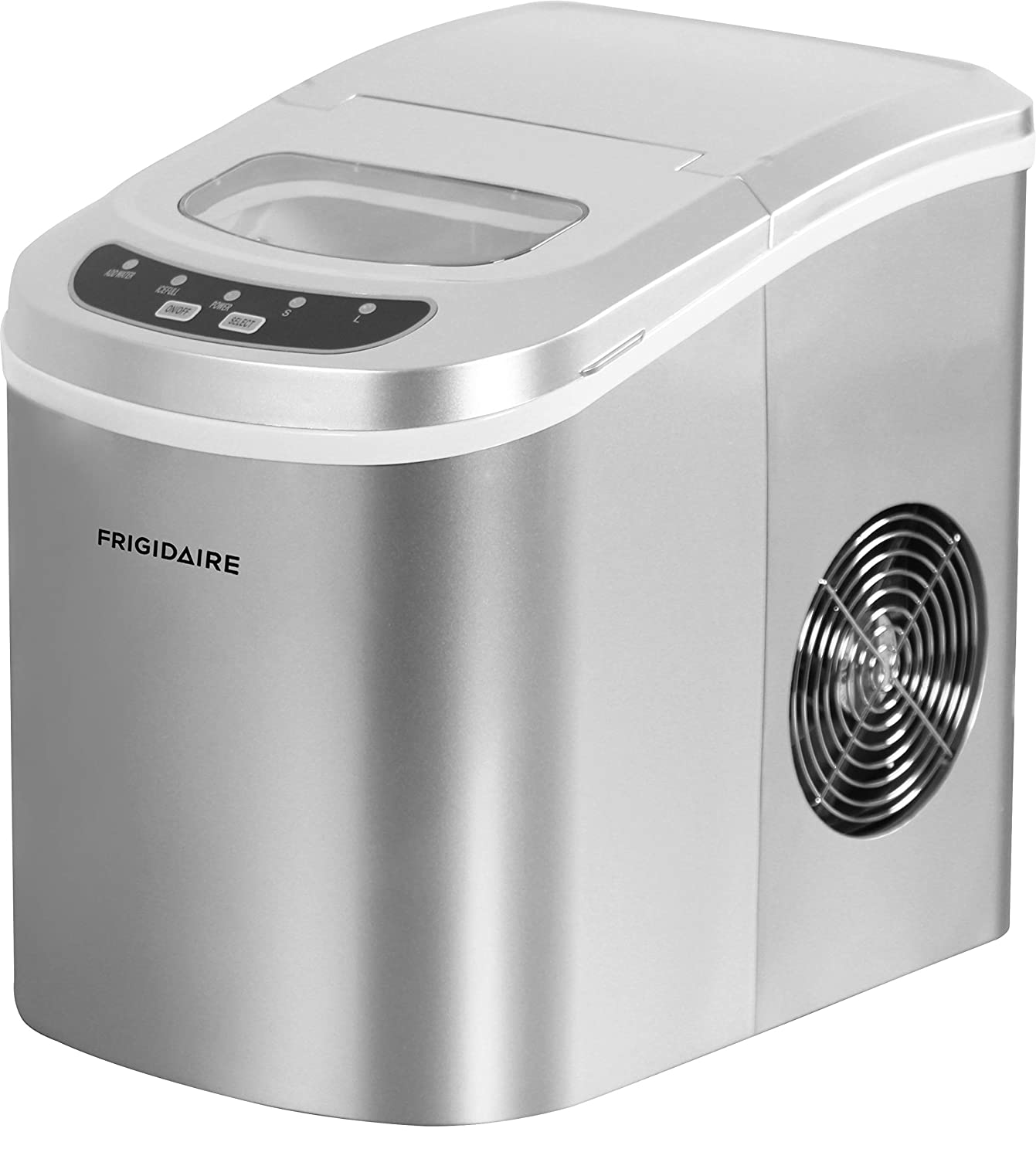 Frigidaire EFIC102 Counter Top Ice Maker, Silver, 26lb per day