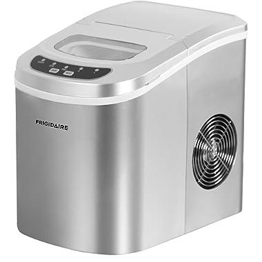 Frigidaire EFIC102 Counter Top Ice Maker, Silver, 26lb per day