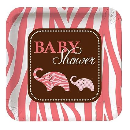 Wild Safari Pink 9.125 Inch Paper Plates  sc 1 st  Amazon.com & Amazon.com: Wild Safari Pink 9.125 Inch Paper Plates: Kitchen u0026 Dining