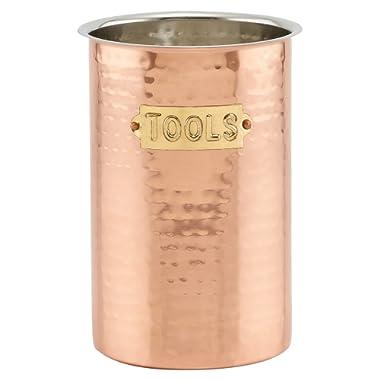 "Old Dutch International Hammered Copper, 6¾"" H Tool Caddy, 6  x 4.75  Dia"