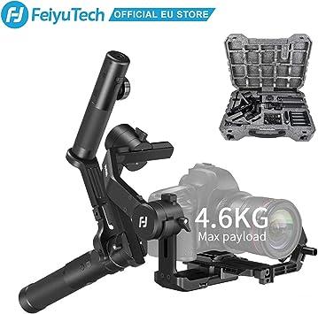 Feiyutech AK4500 Estabilizador cardán de 3 Ejes para cámaras réflex Digitales y sin Espejo, Compatible con Todas Las Marcas de cámaras de Carga máxima de 4,6 kg: Amazon.es: Electrónica