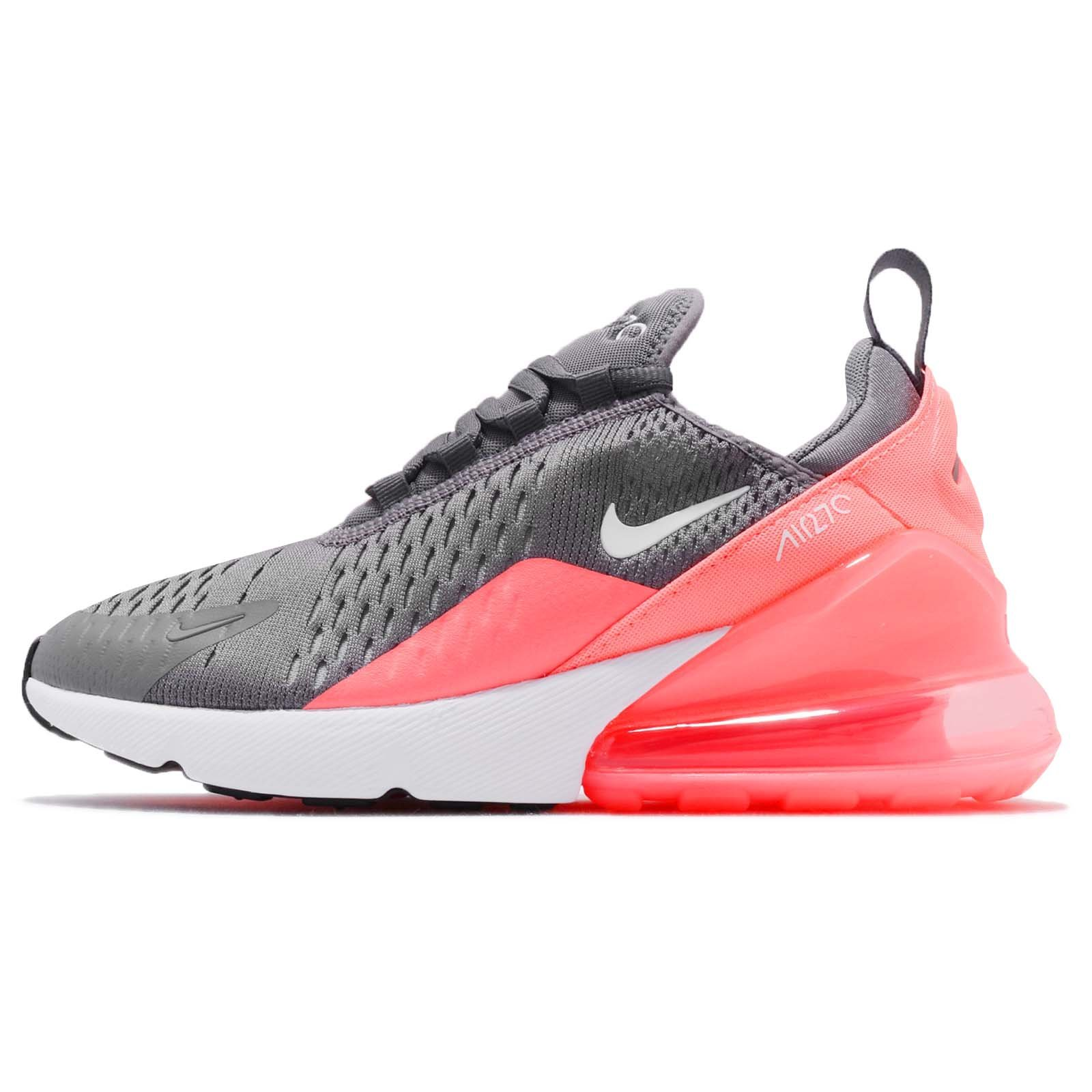 detailed look ddc68 d49fd Galleon - NIKE Kid s Air Max 270 GS, Gunsmoke White LT Atomic Pink, Youth  Size 7