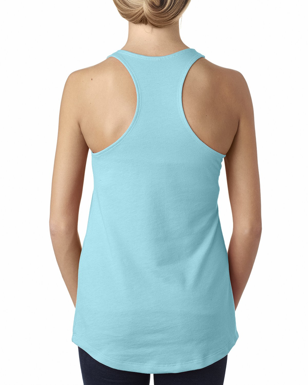 Next Level Womens The Racerback Terry Tank Top 6933-Neon Heather Pink 12 Pack