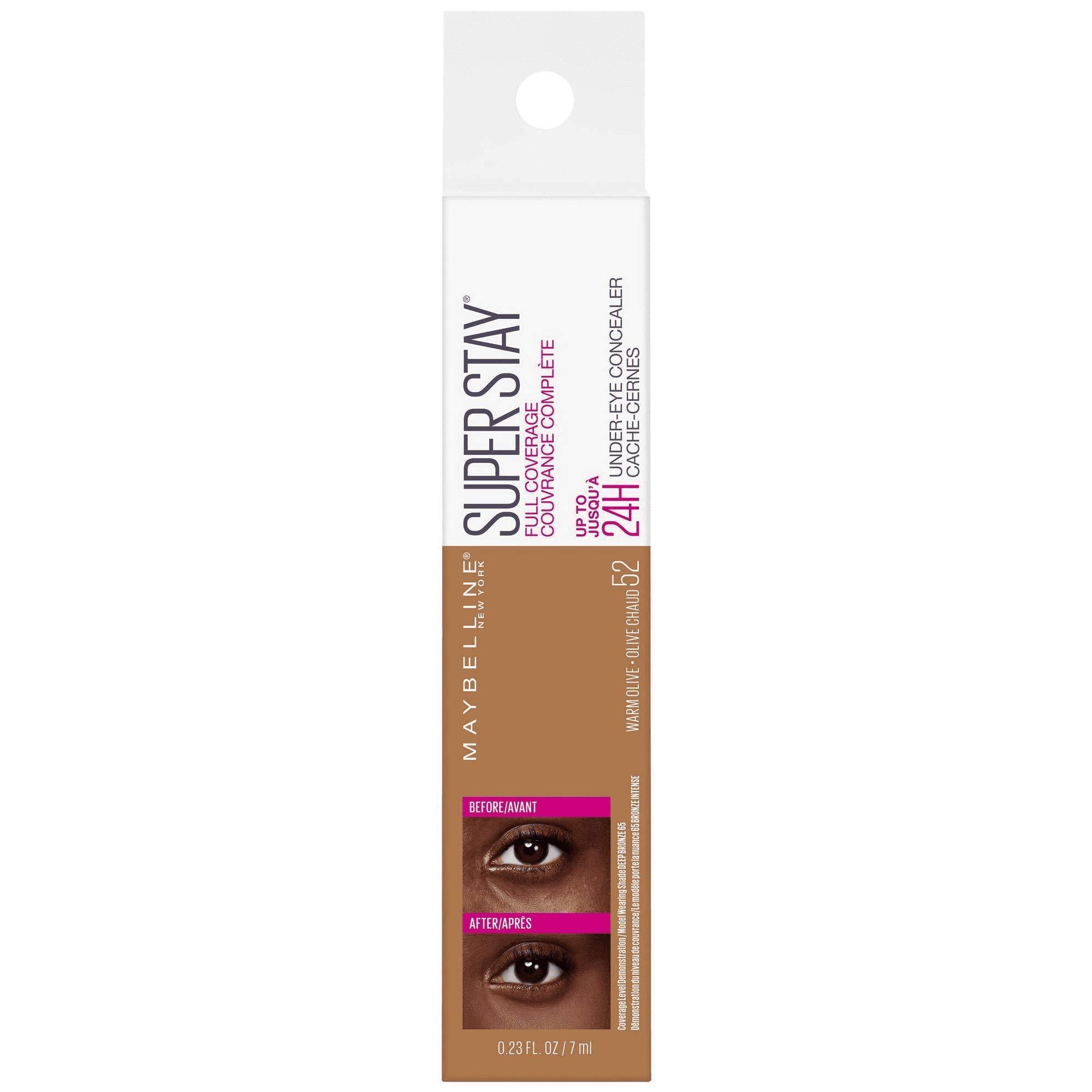 Super Stay Full Coverage Long Lasting Under-Eye Concealer, 52 Warm Olive, 0.23 fl oz (Pack of 2)