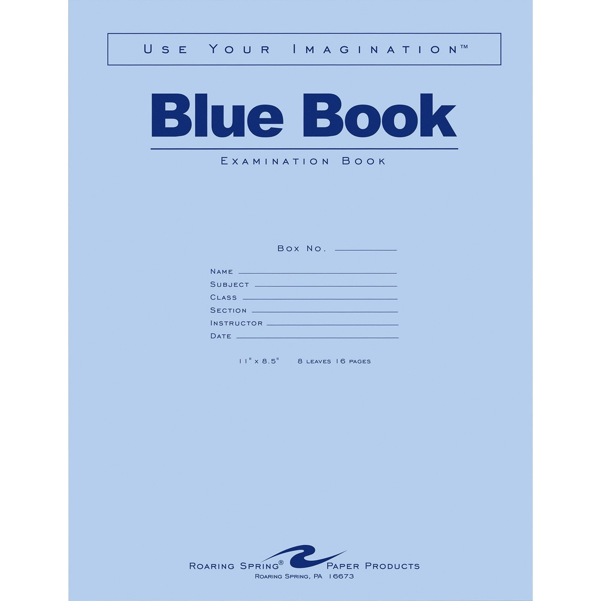 ROA77517 - Roaring Spring Blue Examination Book