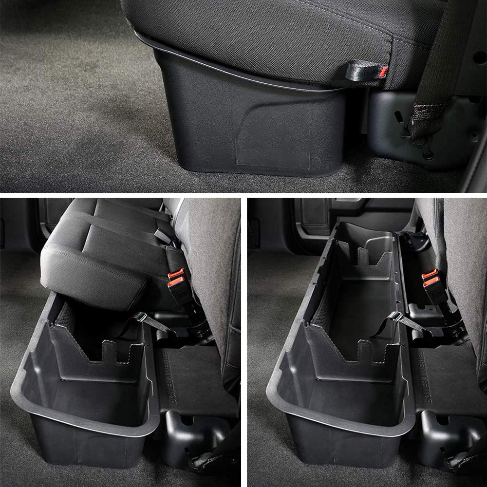 Galaxy Auto Under Seat Storage Box for 2015-19 Ford F150 SuperCrew 4 Door Cab