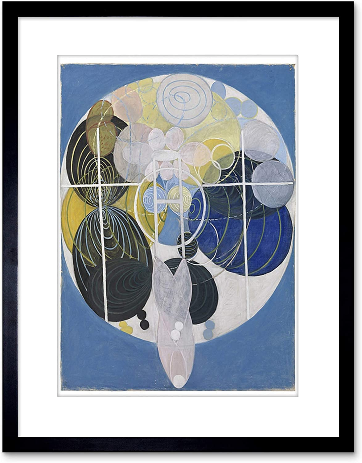 Wee Blue Coo Painting Abstract Hilma AF KLINT 1907 Large Figure Framed Art F97X11993