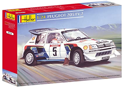 Heller Peugeot 205 EV 2 Car Model Building Kit