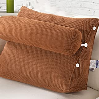 CHUANGCHUANG Bed Big Pillows Triangular Cushions Soft Waist Lumbar Pad Office Sofa Pillow Neck Lumbar Pillow (Design : 4)