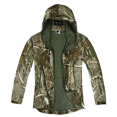 Veste Jacket À Softshell Camouflage Longue Manches Capuche Zicac z4qwP4