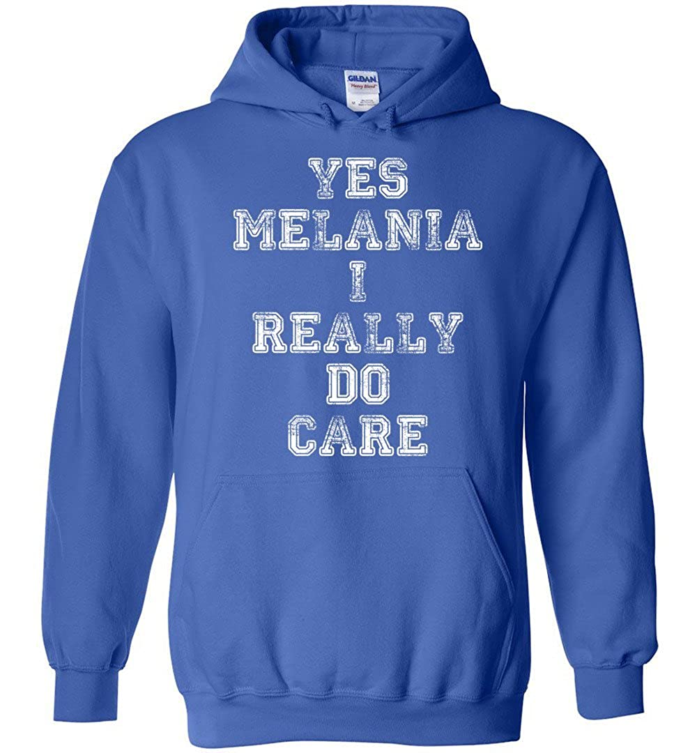 TSHIRTAMAZING I Really Do Care Melania Protest Hoodies Adult and Youth Size