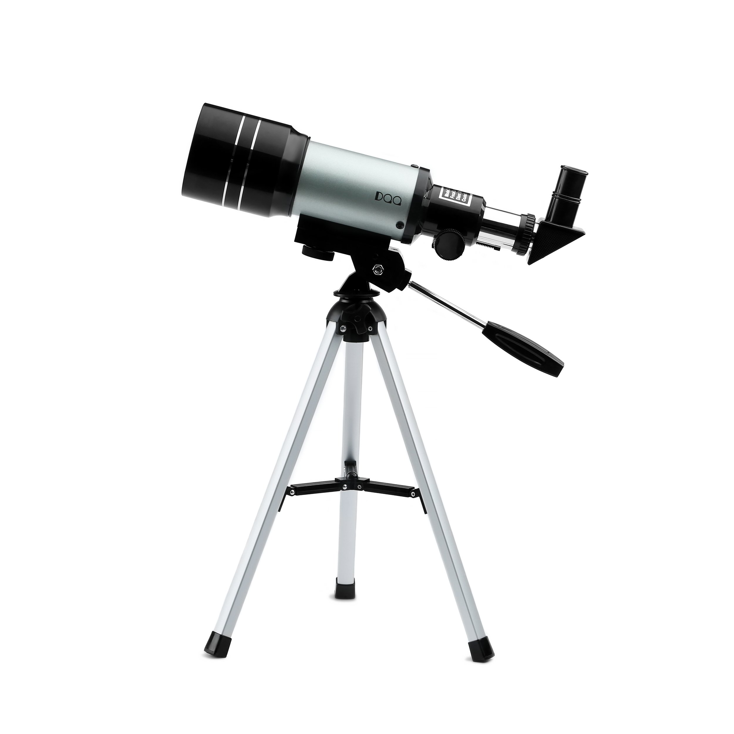 DQQ Telescope for Kids Sky Monocular Telescopes for Astronomy Beginners with Tripod Black 70mm,3X Barlow Lens by DQQ