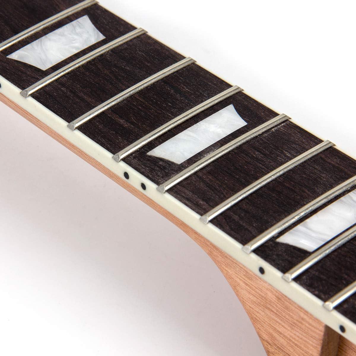 Kmise Manche de guitare /électrique en /érable 22 frettes Noir brillant MI2670.