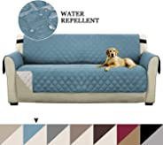 Reversible Quilted Microfiber Pets Sofa Protector Stay in Place Plush Furniture Sofa Protector/Checked Design Slipcovers for