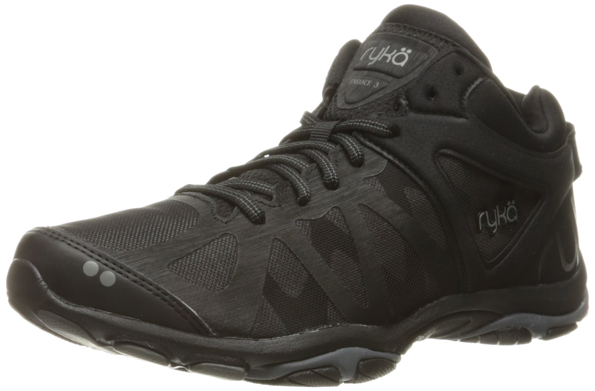 Ryka Women's Enhance 3 Cross-Trainer Shoe, Black/Grey, 8 M US
