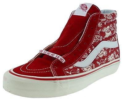 75099f812c Vans SK8 Hi 38 Reissue 50th Stv Pirate Santa Red Men s Skate Shoes Size