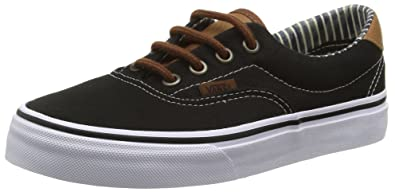 mens vans black & brown era 59 trainers