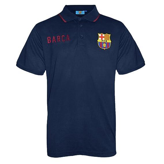 04d18df1425 Amazon.com  FC Barcelona Official Football Soccer Gift Mens Crest Polo Shirt  Navy Blue  Clothing