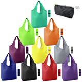 Reusable-Grocery-Bags-Foldable-Machine-Washable-Reusable-Shopping-Bags-Bulk Colorful 10 Pack 50LBS Extra Large Folding Reusab