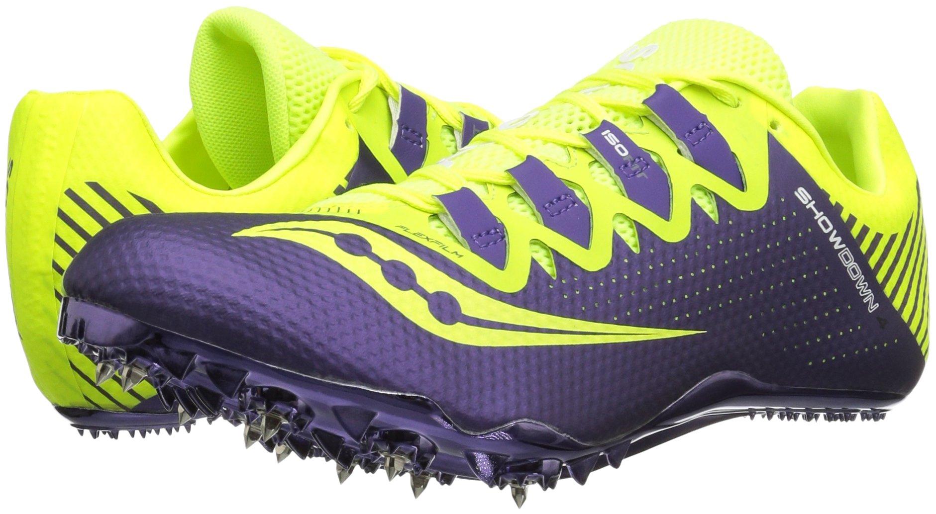 Saucony Women's Showdown 4 Track Shoe, Citron/Purple, 9.5 M US by Saucony (Image #6)