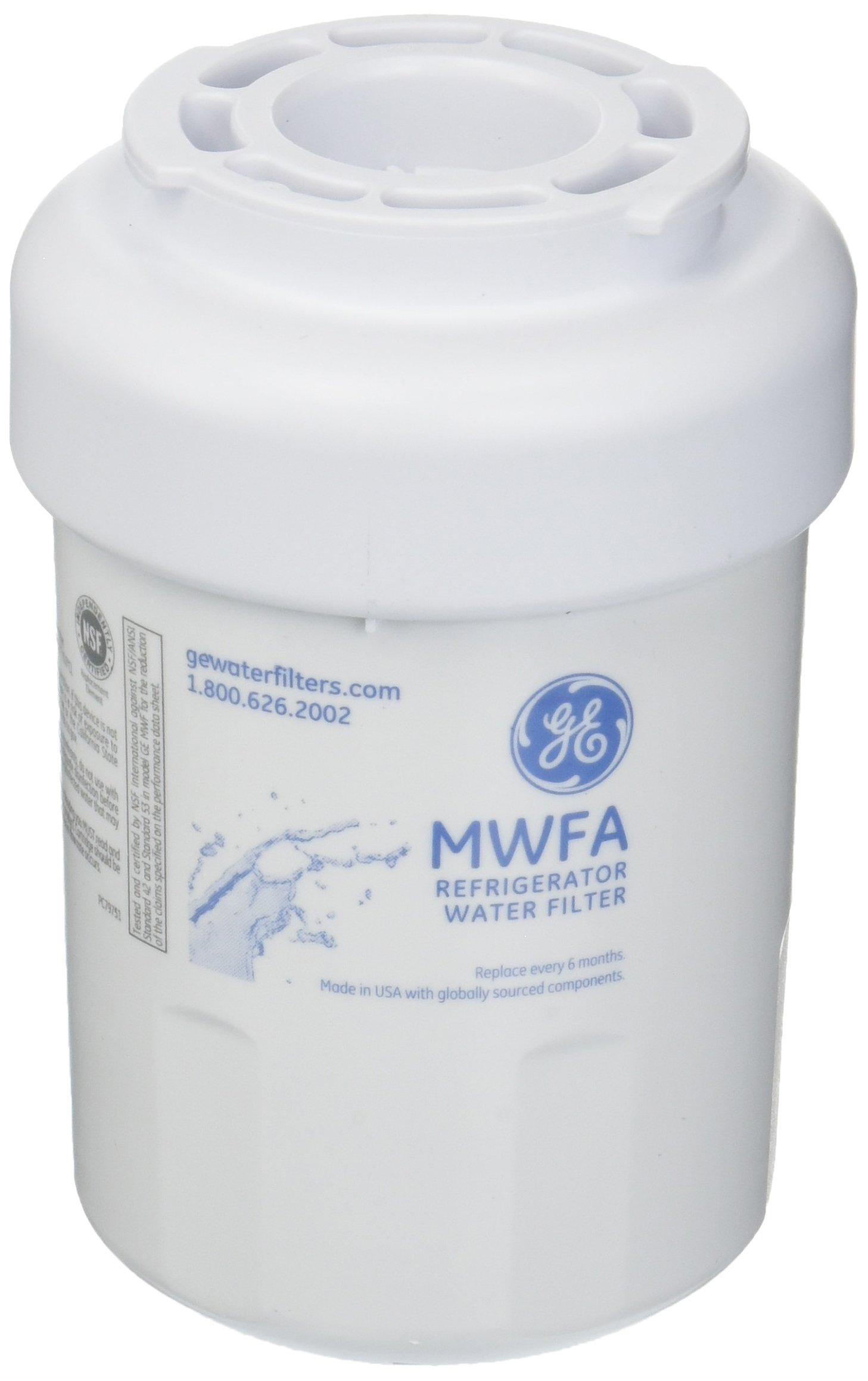 GE MWFA Refrigerator Water Filter, Standard, White