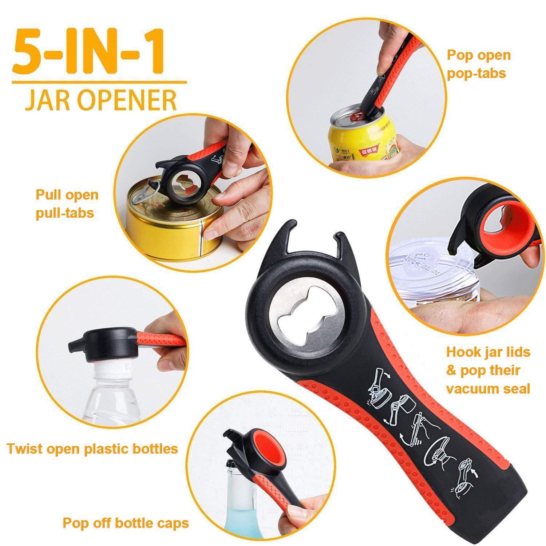 MultiFunction Jar Bottle Container Cap /& Lid Opener Remover Kitchen Tool Gadget