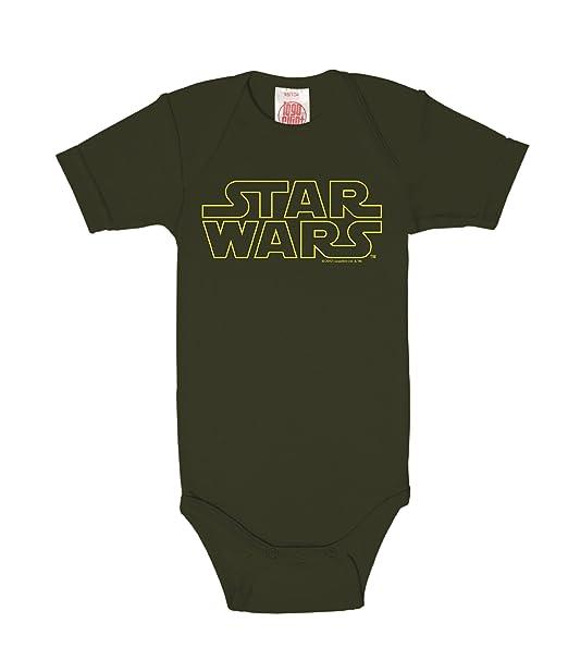 Logoshirt Star Wars Logotipo Body para bebé - Pelele para bebé - Verde Oscuro - Diseño Original con Licencia: Amazon.es: Ropa y accesorios