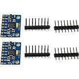 COM-FOUR 2x GY-521 MPU-6050 Giroscopio a 3 assi e modulo accelerometro a 3 assi per Arduino (02 pezzi)