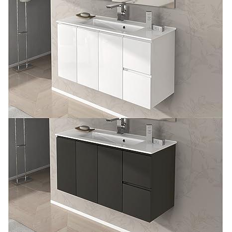 Lavabo Ceramica Per Bagno.Mobile Arredo Bagno Omega Da 100 Cm Sospeso Con Lavabo Ceramica