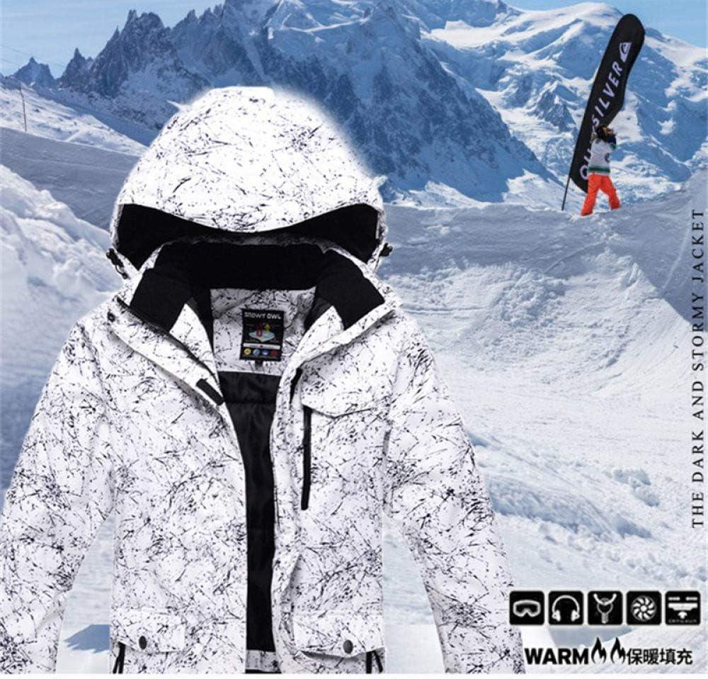 AHJSN 2019 New Tuta da Sci Impermeabile per Uomo e Donna Tuta da Sci da Montagna per Uomo Addensare Caldo Giacca da Sci da Snowboard Pantalone da Sci Set da Sci
