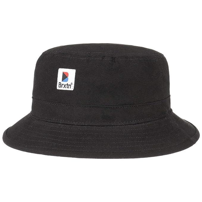 bd10daa5535002 Brixton Stowell Bucket Hat Summer Cloth (60 cm - Black): Amazon.co ...