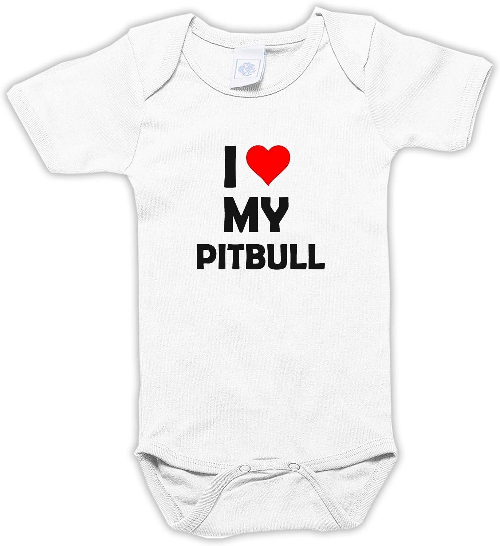 Settantallora J3303 I Love My Pitbull - Body para bebé