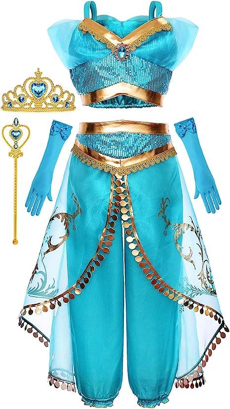 KuKiee Girls Princess Costume Halloween Cosplay Party Dress Up