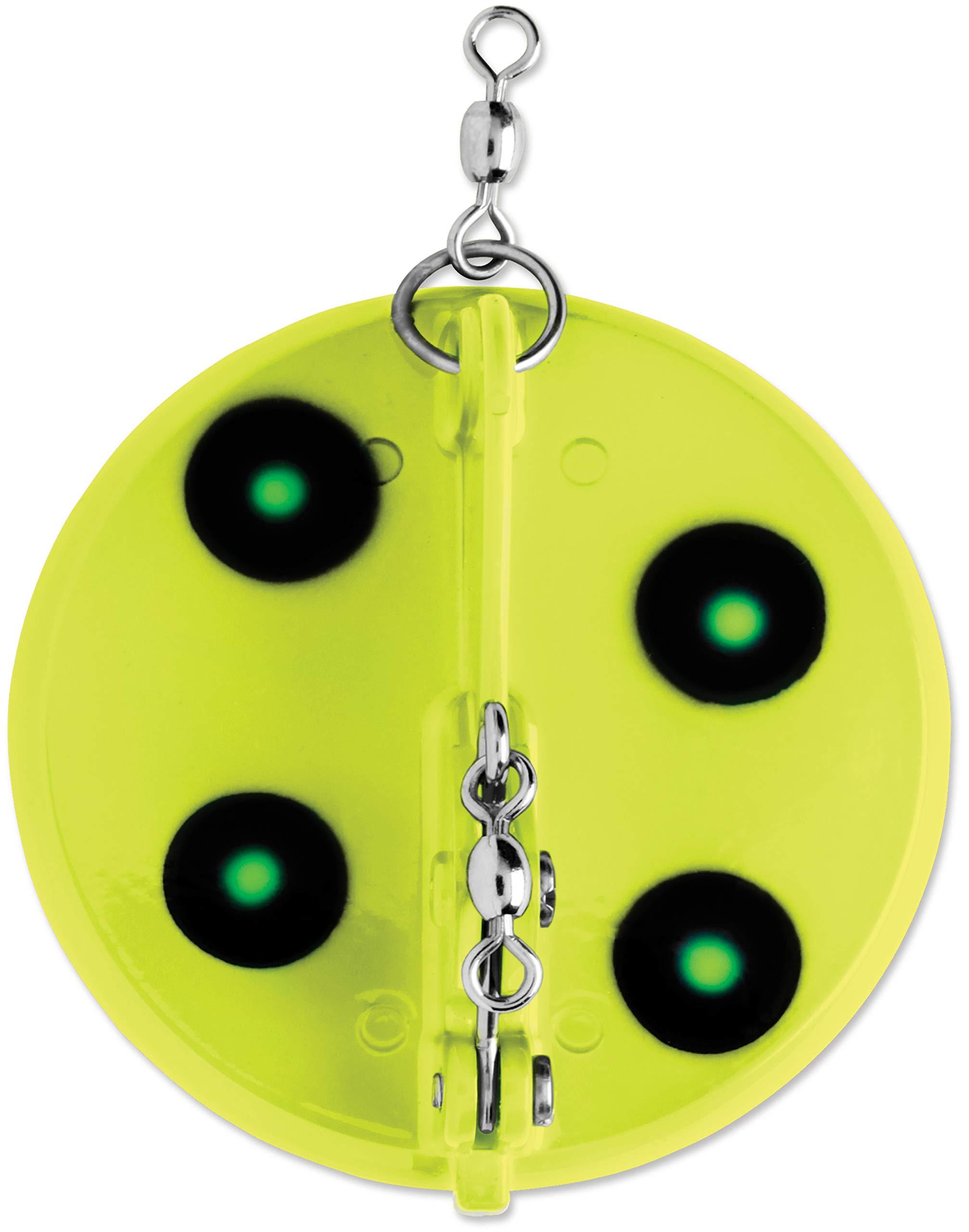 Luhr Jensen 1 Dipsy Diver, Flo Chart/Green UV