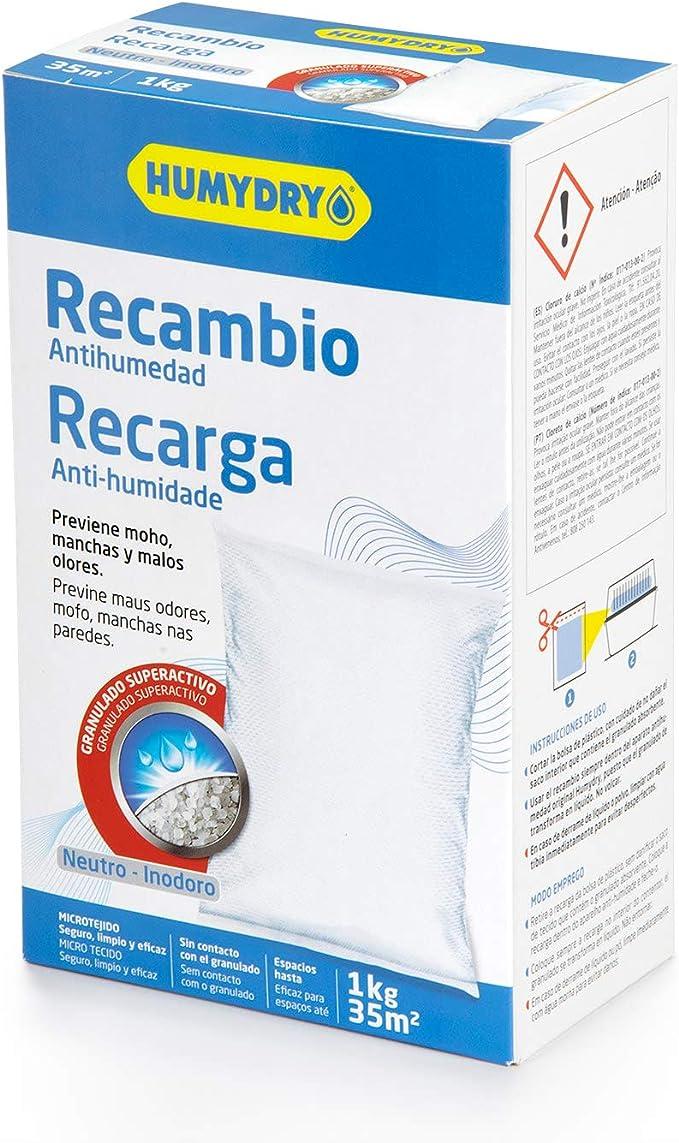 HUMYDRY Recambio Antihumedad 1kg: Amazon.es: Bricolaje y herramientas