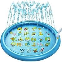 SnailBrother (Upgraded 2020 Version) Splash Pad Water Sprinkler Mat for Kids, 68'' 3-in-1 Summer Wading Pool Outdoor…