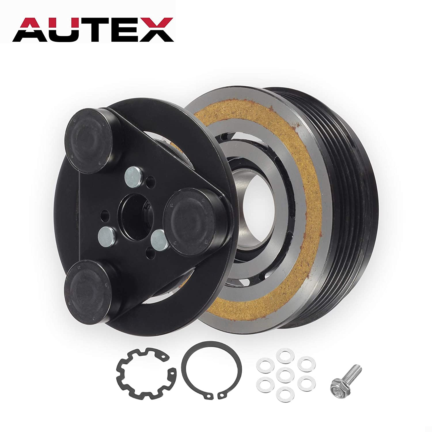 AUTEX AC A/C Compressor Clutch Coil Assembly Kit BP4S61K00 Fits for 2004 2005 2006 2007 2008 2009 MAZDA 3 2006 2007 2008 2009 MAZDA 5