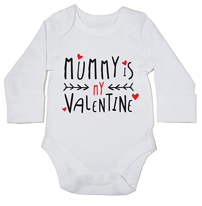 14bba69dd Hippowarehouse Mummy is My Valentine Baby Vest Bodysuit (Long Sleeve) Boys  Girls: Amazon.co.uk: Clothing