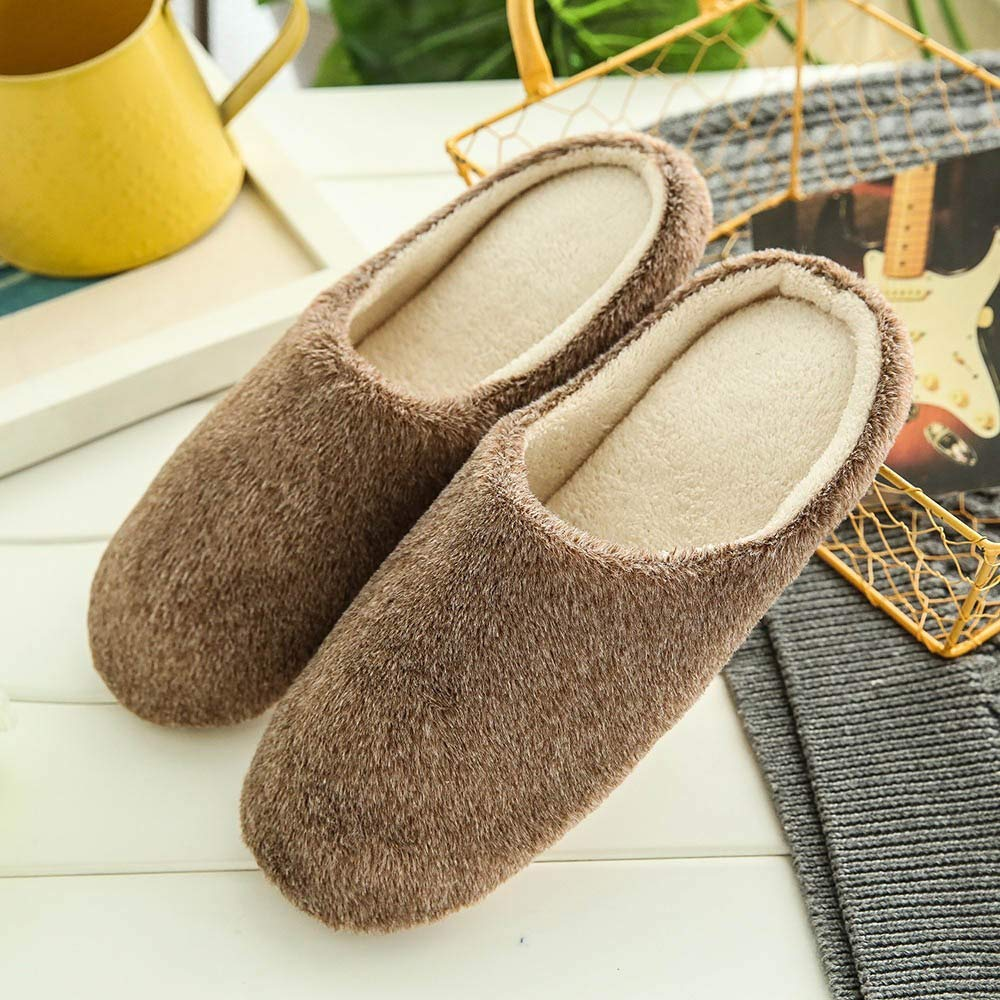 Fond Plat Confortable Chaud Slippers Home Accueil Chaussure Automne Hiver Anti-Slip Indoors LOVELYOU ❤️Hommes Chaussons Peluche