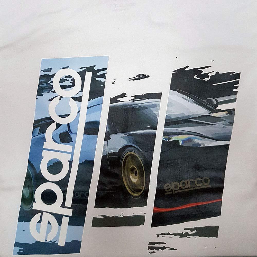 Sparco S01215BI4XL Camiseta, Blanco, XL: Amazon.es: Coche y moto